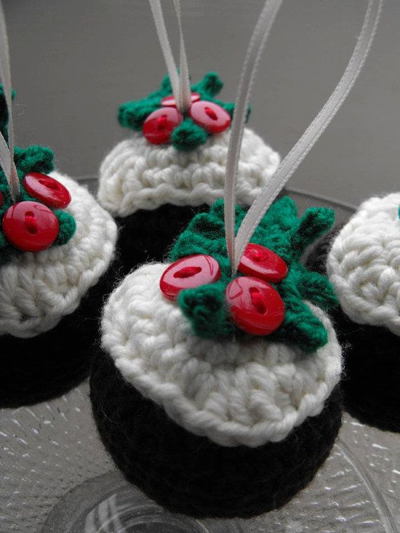 Crochet Christmas Pudding Decoration Not A Free Pattern But Good