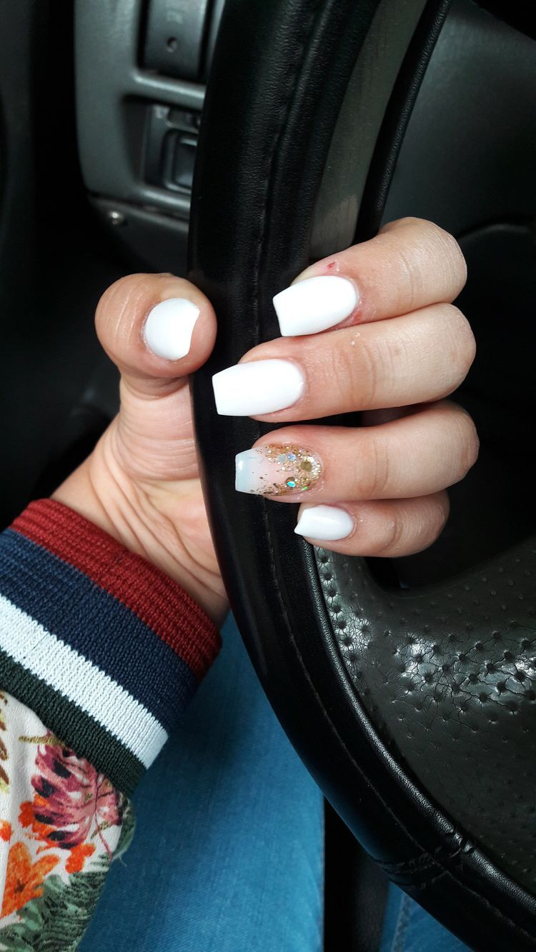 Nail Ideas Acrylic Short Nail Ideas Nail Ideas Nail Ideas Acrylic Nail Ideas For Spri In 2020 Short Coffin Nails Summer Nails Colors Designs Short Acrylic Nails