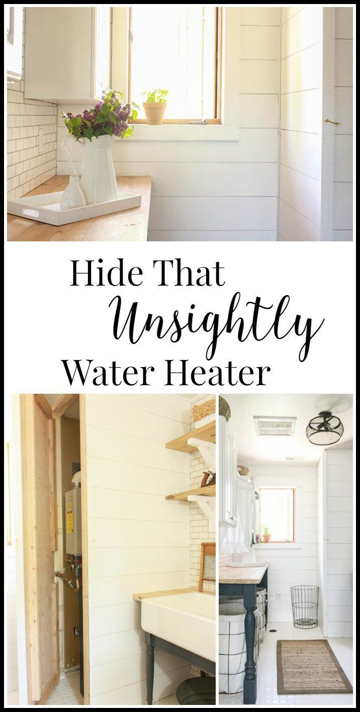 Hide An Unsightly Water Heater Laundry room remodel