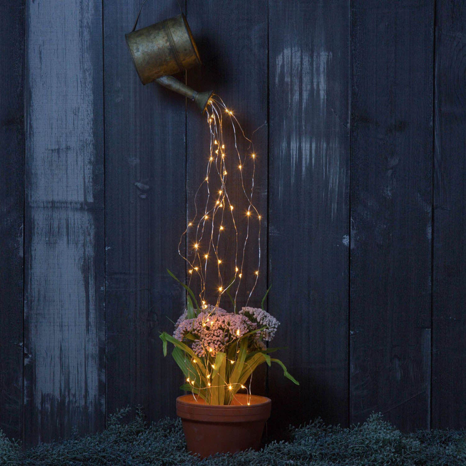 Diy Watering Can Fairy Fairy Lights Fairy Pots Outside Decorations