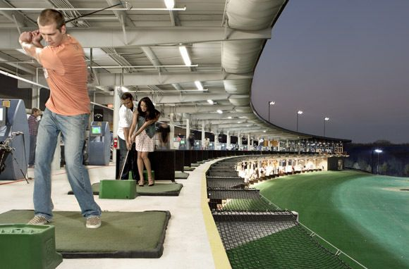 10 Surprising Winter Hot Spots   Golf Anyone    Pinterest   Golf     Top Golf Chicago  the best place ever to hit range balls  have a beer  and  listen to music