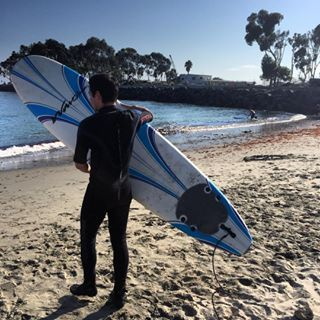 David Archuleta. @DavidArchie. Learning how to surf.  I've got a ways to go.  #stillinprogress #California #surfinUSA  August 2015.