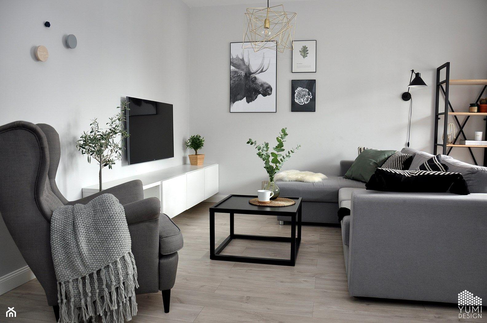 "Salon ""Colors of Grey"" zdjęcie od Yumi Design Salon Styl"