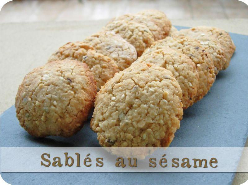 Lovely Gateau Sans Lait Ni Beurre #10: Sablés Au Sésame Sans Gluten, Sans Lait, Sans Beurre Ni œufs. (Mais