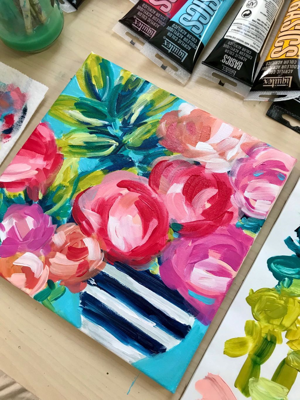 Step By Step Flower Painting Youtube Tutorial By Artist Elle Byers