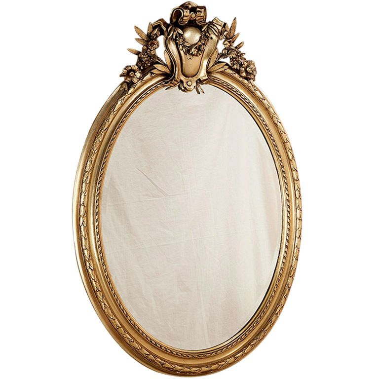 Antique French Louis XVI Oval Gilded Mirror France Circa ...