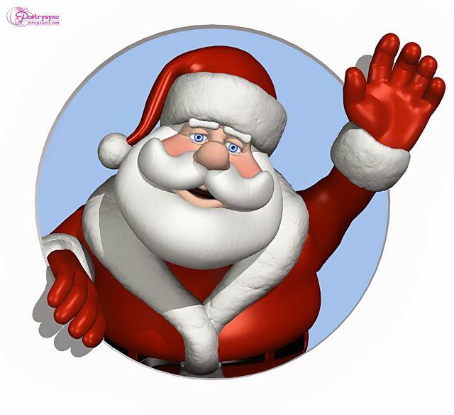 9 Free Vintage Santa Clip Art! - The Graphics Fairy