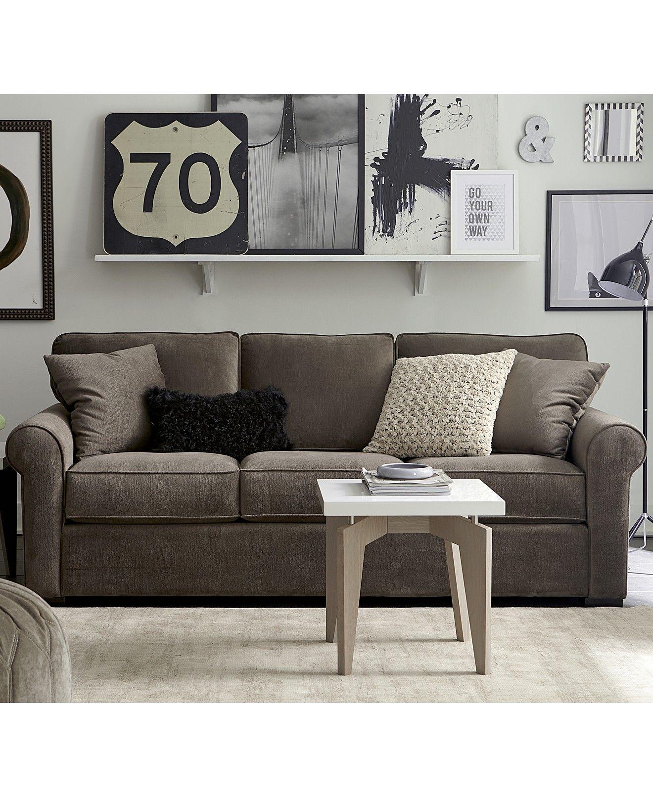 Remo Ii Fabric Sofa Custom Colors Couches Sofas Furniture Macy S