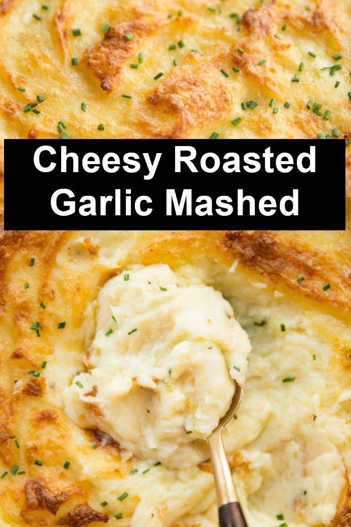 Cheesy Roasted Garlic Mashed Potatoes