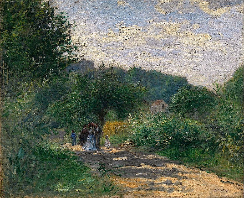 Pierre-Auguste Renoir, A Road in Louveciennes1870