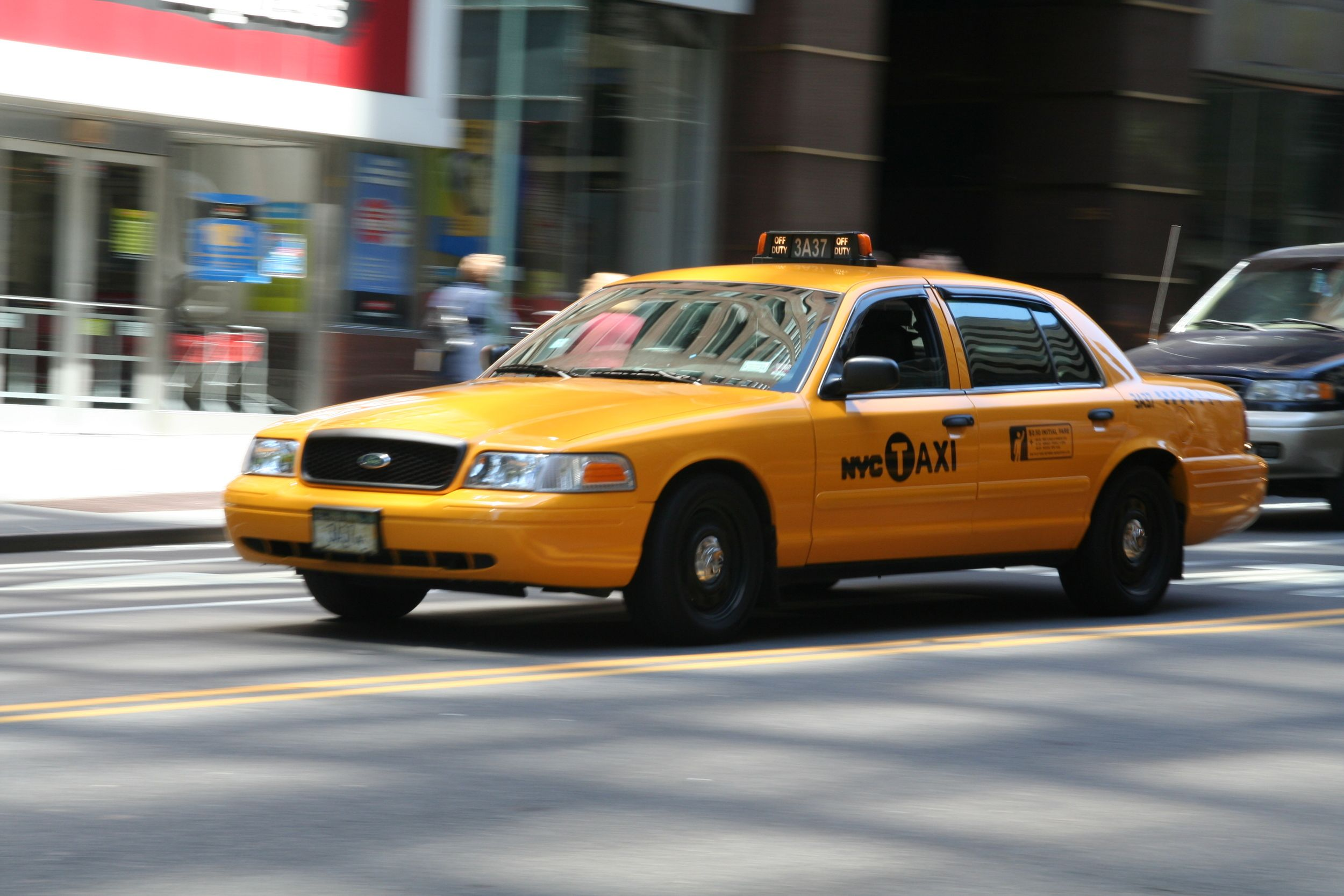 Metered Vehicle Cab Taxi New York Taxi Taxi Cab
