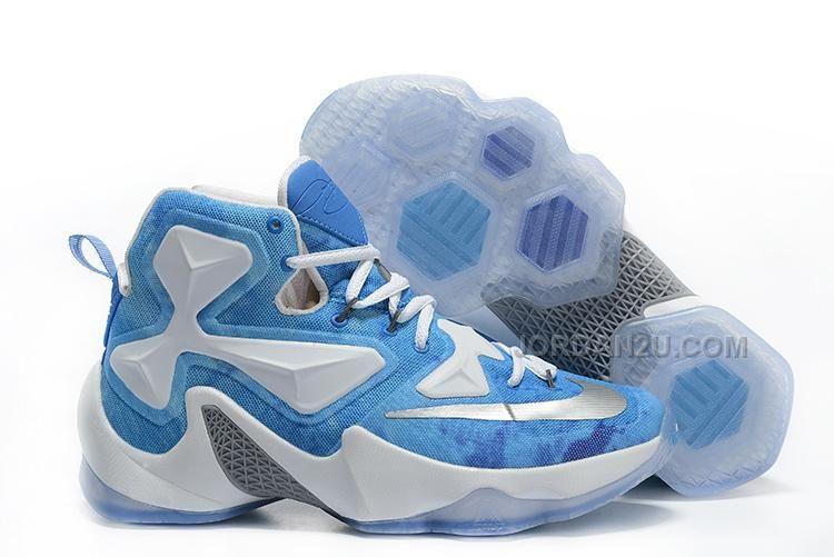 new product f8ea4 58693 Mens Nike LeBron 13 Lake Erie White Blue Silver Basketball Shoes Running  Shoes Nike, Buy