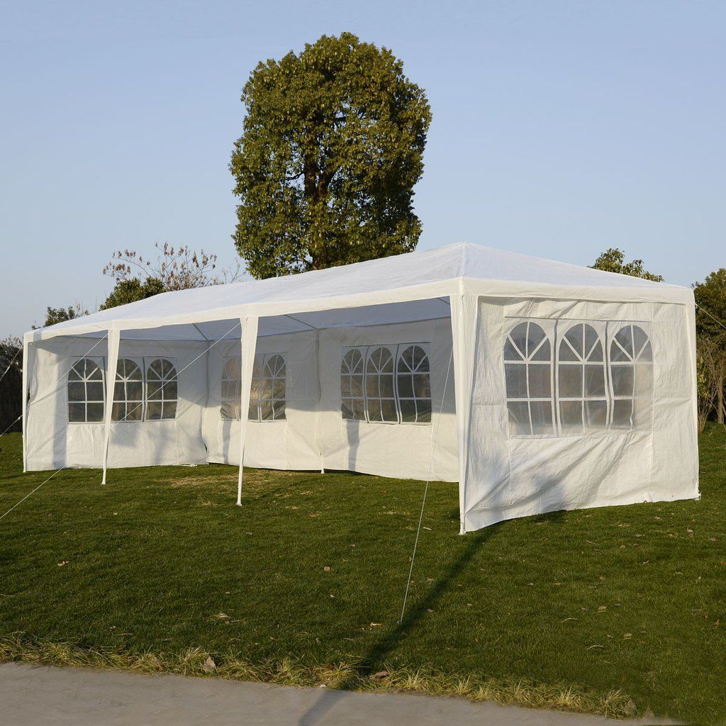 Outdoor Party Tent Patio Wedding Canopy Events Marquee Gazebo with Side Walls US