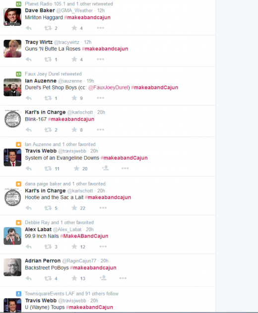 #makeabandcajun Hits Twitter, And It's Hilarious