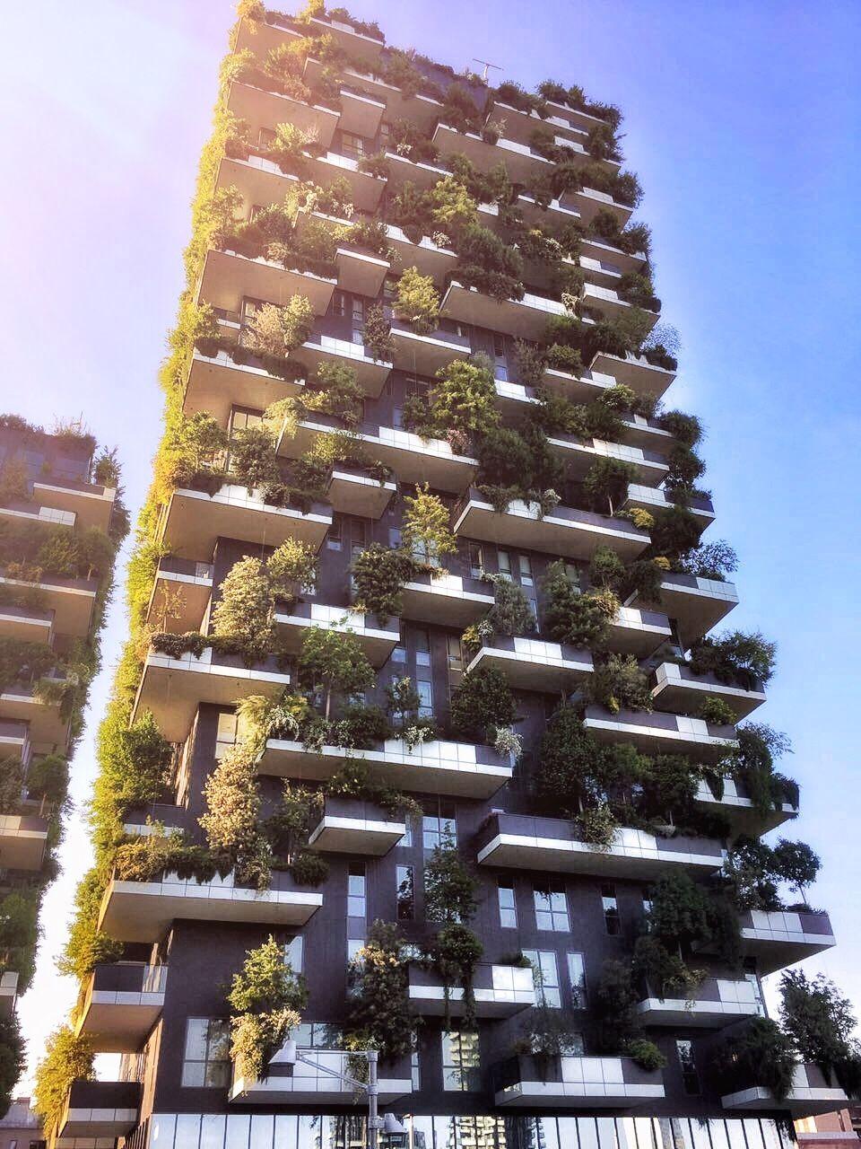 Bosco Verticale in Milano, Italia. Amazing skyscraper