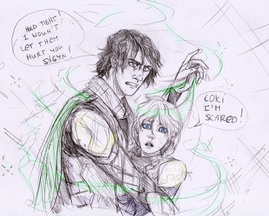 Loki and Sigyn 3 by Sanzo-Sinclaire.deviantart.com on @deviantART