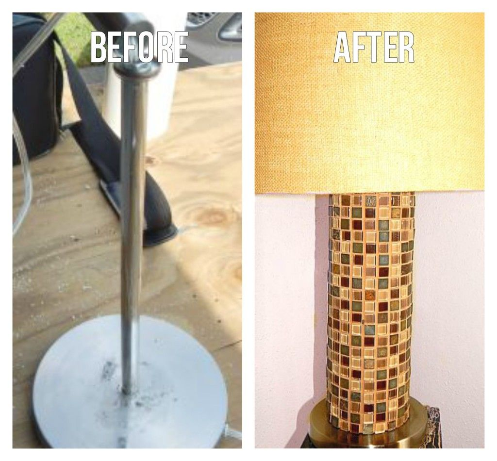 Craft mosaic tiles cheap - Customize Your Own Lamp With Mosaic Tile Uses Pvc Pipe As Base Inspiringhomestyle