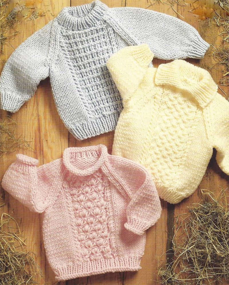 85107ec9e PDF Instant Download Baby Childs Sweaters Jumpers Knitting Pattern ...