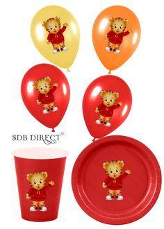 Daniel Tiger Birthday Plates   Cute Daniel Tiger Digital Balloon, Plate, Cup, Treat Box Stickers, DIY ...