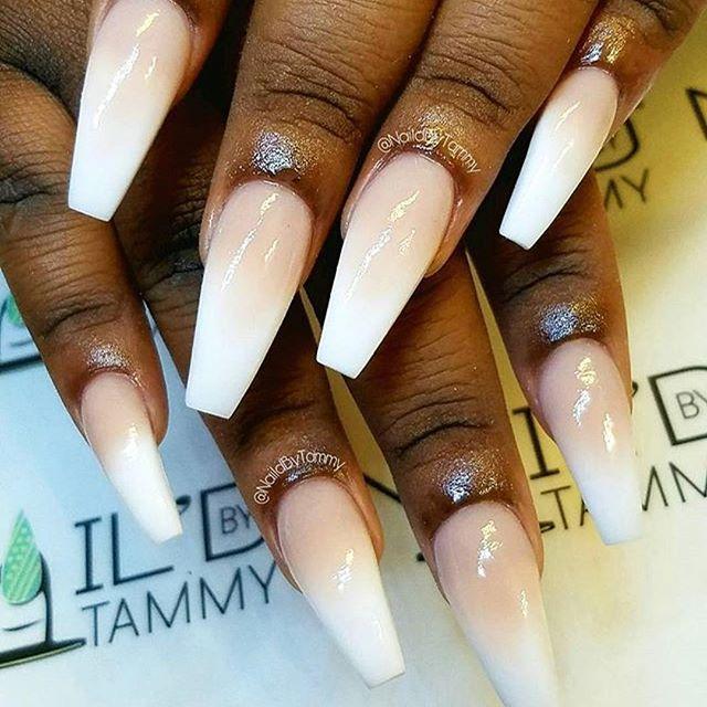 #Repost @naildbytammy ・・・ Clean 😍 Style: Ombré Peach ...