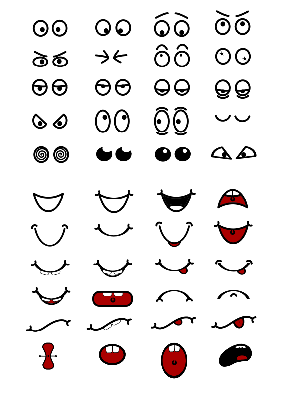 Free Clipart Cartoon Mouth N Eyes Objects Free Clip Art Cartoon Mouths Eyes Clipart