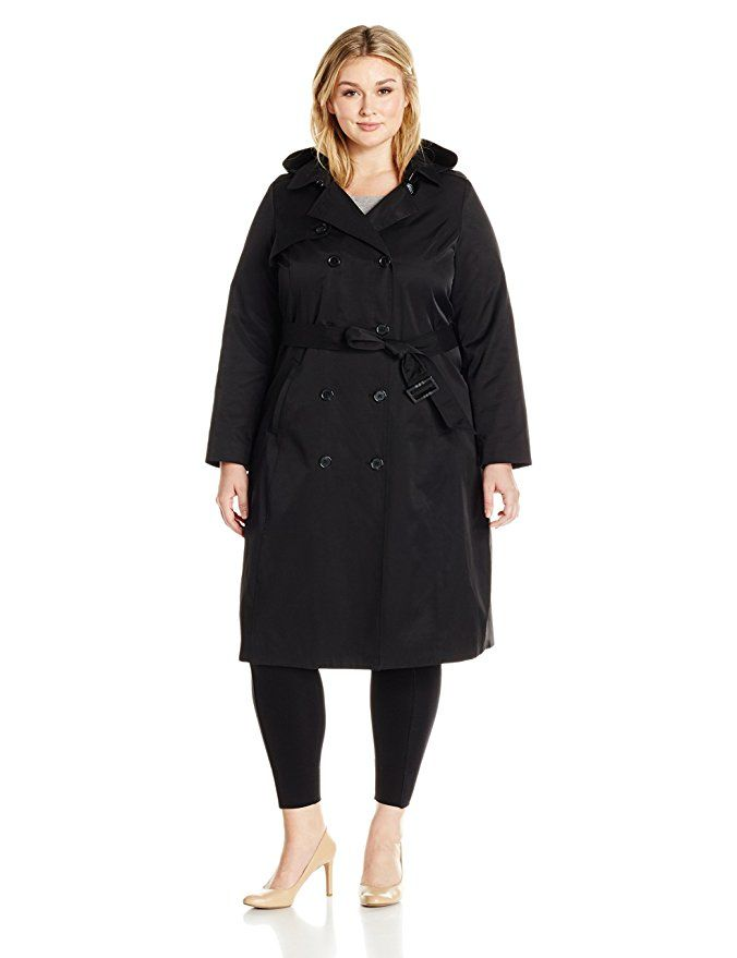 low cost footwear novel design Lark & Ro Women's Plus Size Classic Maxi Trench Coat, Black ...