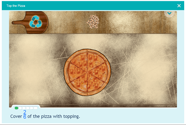 Number and Operations Fractions Top the Pizza I