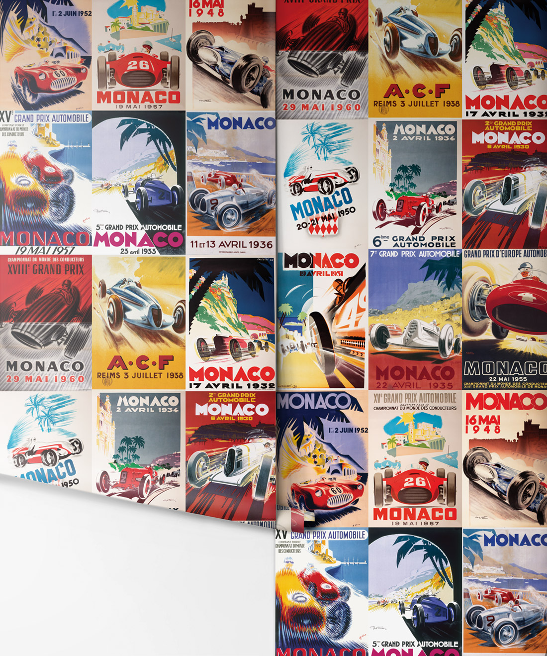 Circuit De Monaco Vintage Race Car Wallpaper Milton King Vintage Racing Car Wallpapers Vintage Race Car