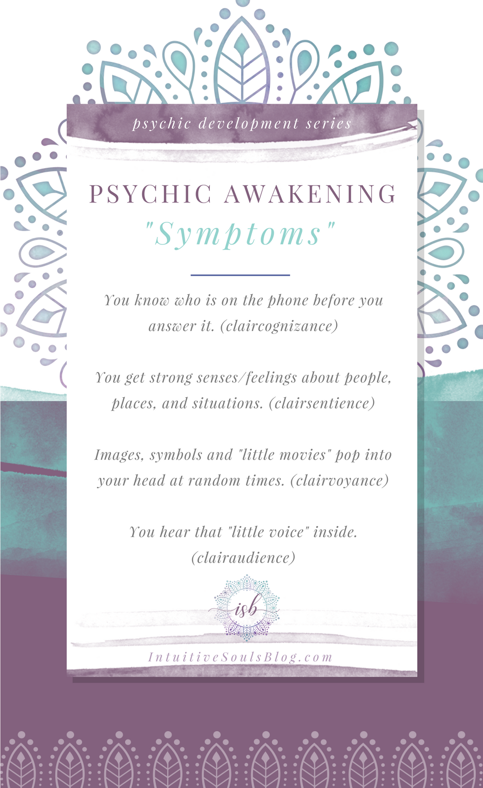 First Signs of Your Psychic Ability