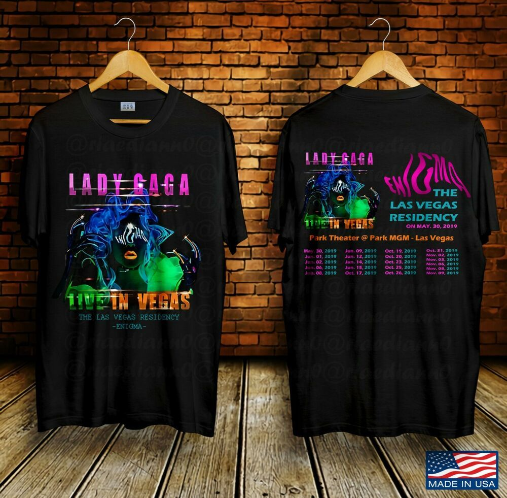 Lady Gaga Live In Vegas Tour US 2019 Black T-Shirt Gildan