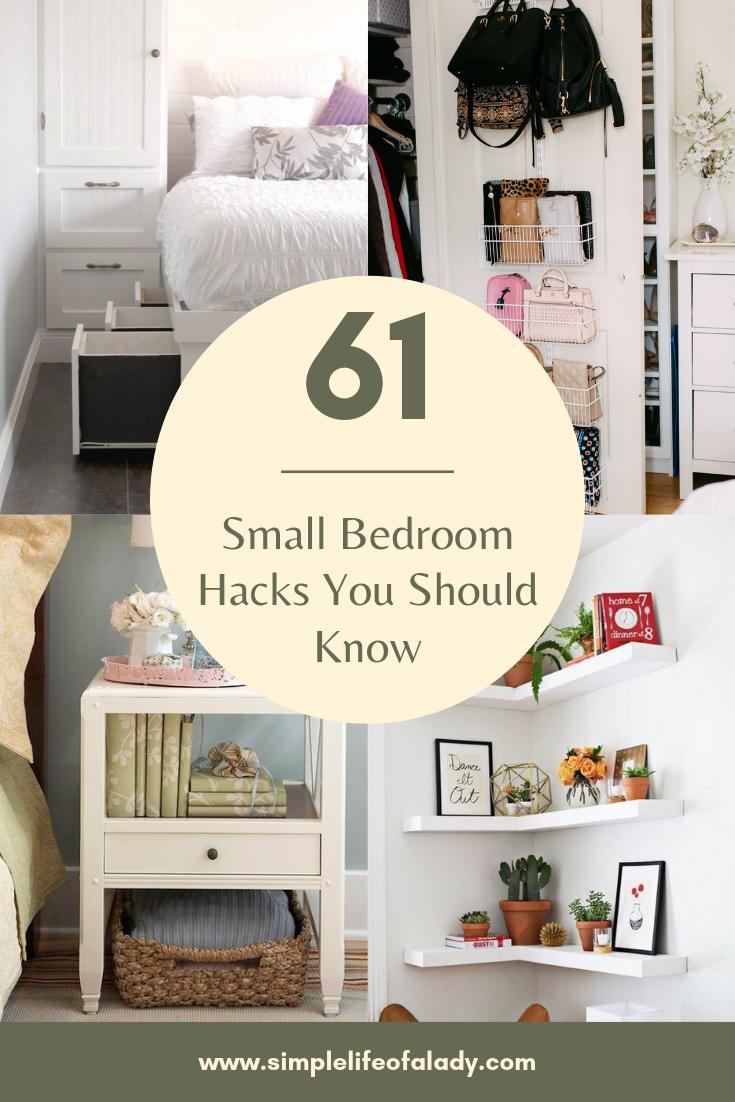 Small Bedroom Hacks Small Bedroom Hacks Small Space Hacks