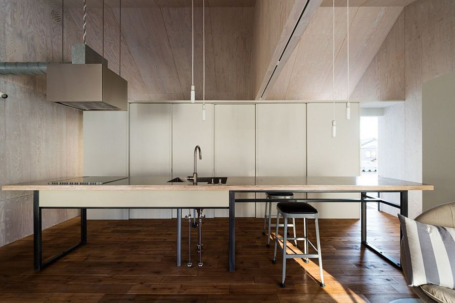 Modern Industrial Japanese Home Redefines Boundaries Of Style And Space Minimal Kitchen Design Modern Interior Design Industrial Kitchen Design