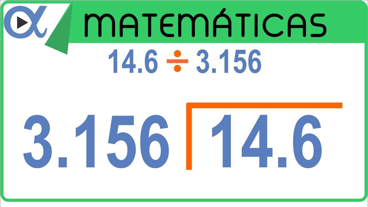 División Con Punto Decimal Ejemplo 6 De 6 Aritmética Vitual Decimal División Suma De Fracciones