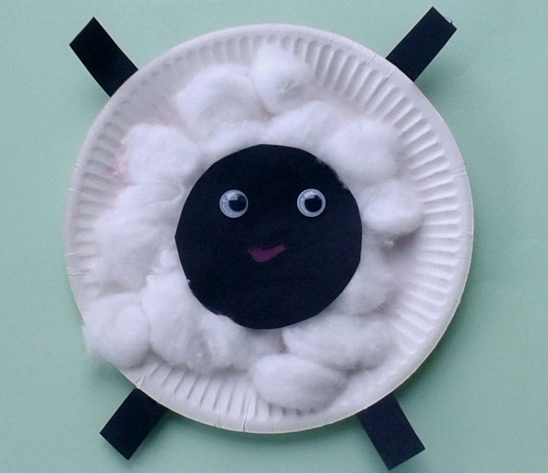 Crafts For Toddlers Paper Plate Baby Farm Animals