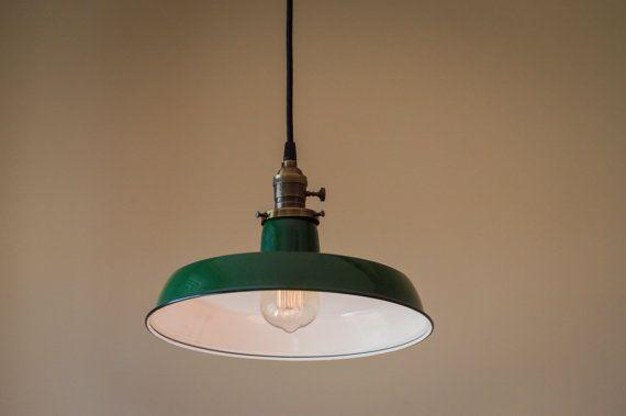 Benjamin hanger lichtpunt 12 groene Vintage industriële arceren ...