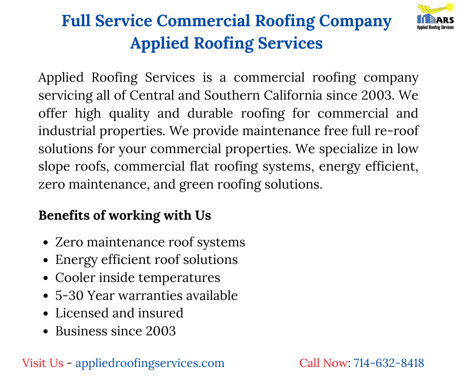 Commercial Roofing Contractor Roofing Repair Company In Anaheim Ca In 2020 Commercial Roofing Roofing Services Roofing