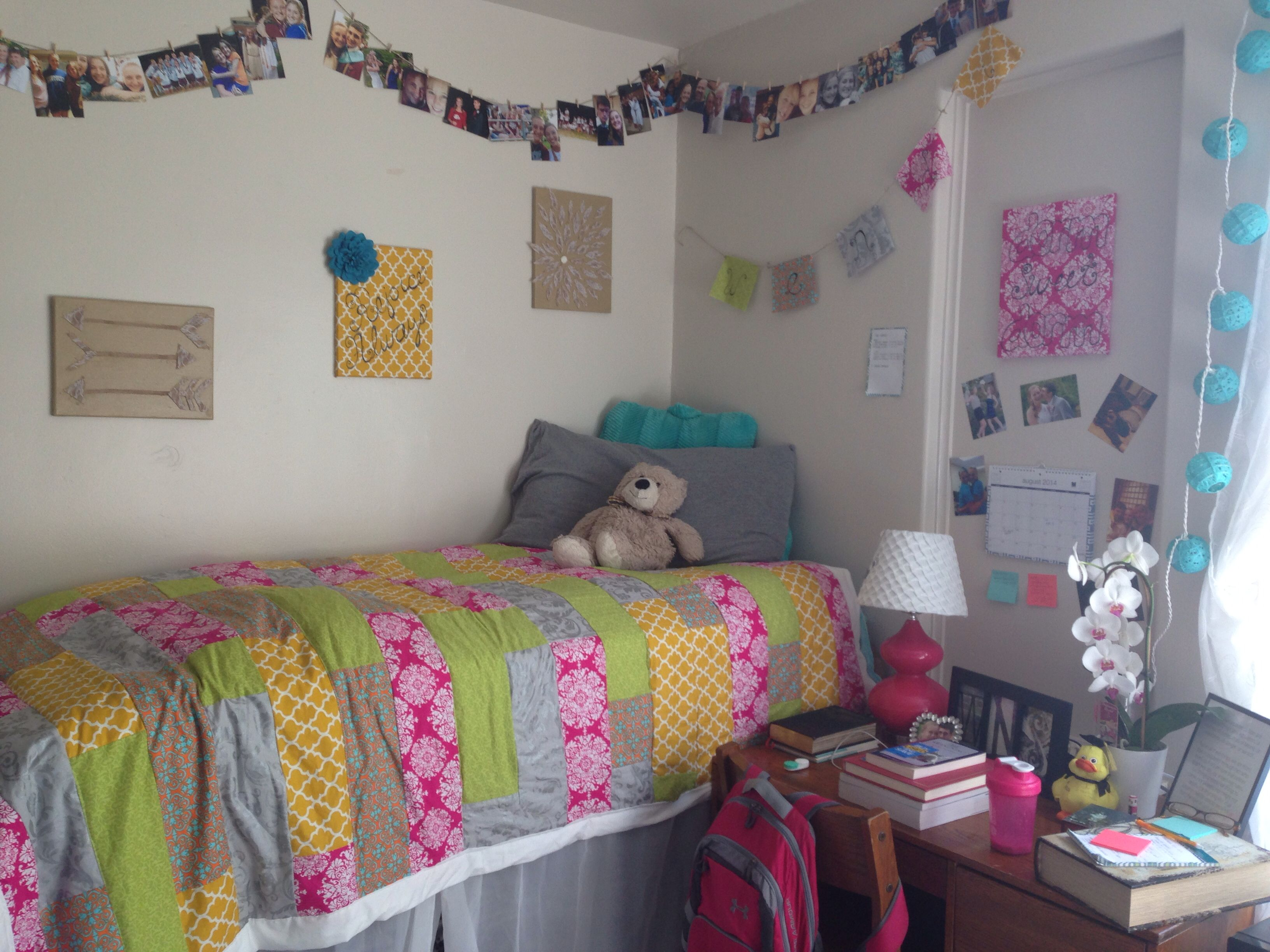Pinterest Inspired DIY Dorm Decorating Eku Diy Dorm Collegelife Col