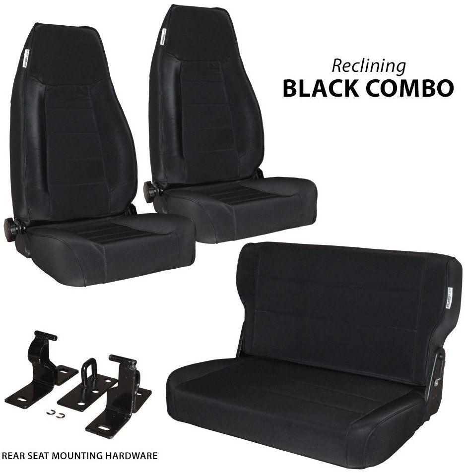 Amazon Com Black Mountain 1976 1995 Jeep Cj Yj Wrangler Seats