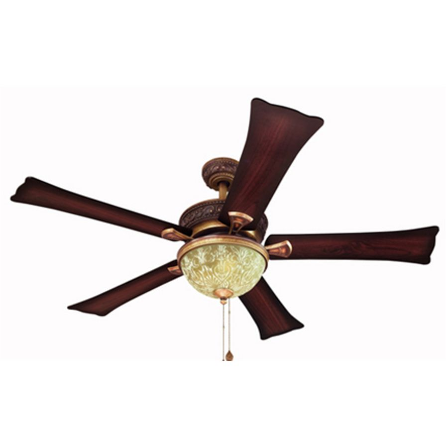 Shop Harbor Breeze 52 In Fairfax Old World Copper Ceiling Fan With Light Kit At Lowes Com Ceiling Fan Gold Ceiling Fan Copper Ceiling Fan
