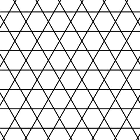 Teselado con Hexágonos y Triángulos Dibujo para colorear. Categorías ...
