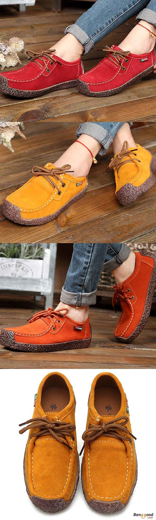 4e4fc19d7 US$35.79+ Free shipping. US Size 5-11 Women Suede Casual Outdoor Lace Up  Comfy Flat Shoes. lace up shoes, sport shoes, flat shoes, women shoes, casual  shoes ...