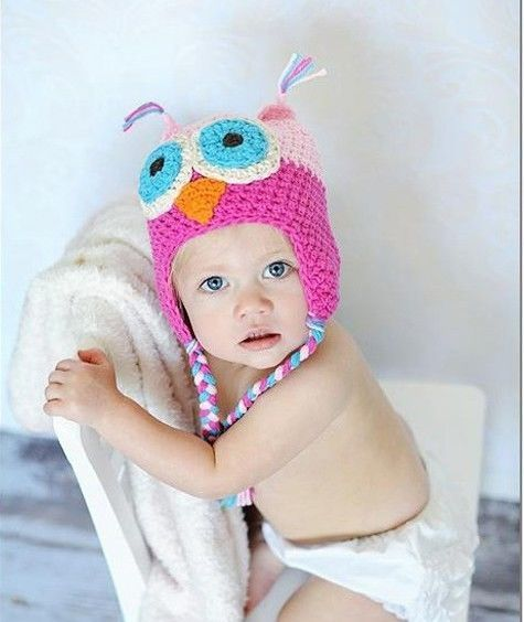 aa8770c36c1  3.29 - Baby Girl Toddler Owls Knit Crochet Hatborn Kids Winter Warm Cute  Beanie Cap  ebay  Fashion