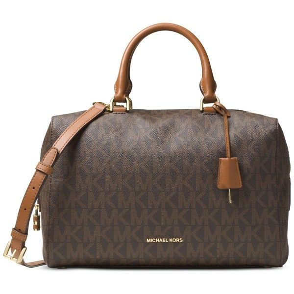 Michael Michael Kors Kirby Large Satchel ($348) ? liked on Polyvore  featuring bags,