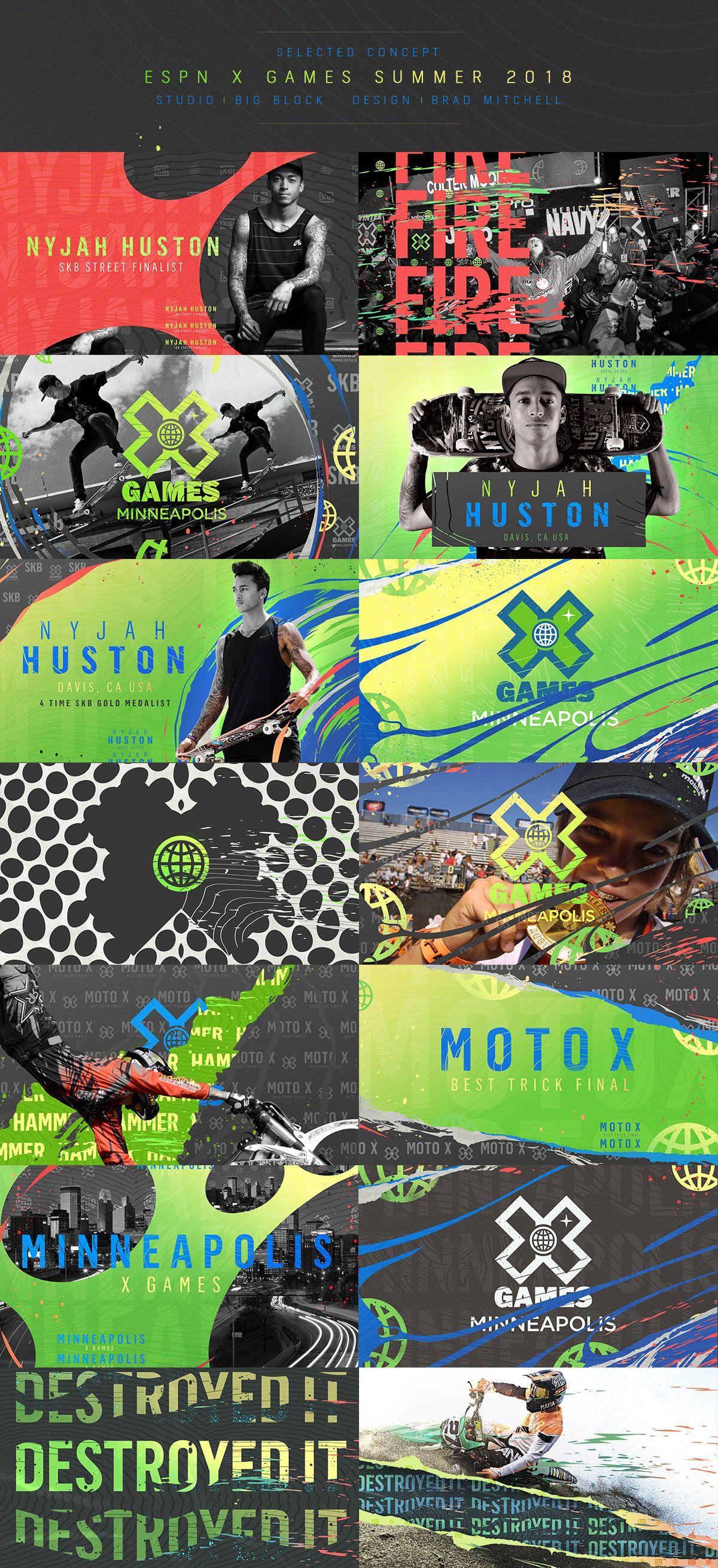 ESPN X GAMES | MINNEAPOLIS 2018 on Behance | gfx | Sports