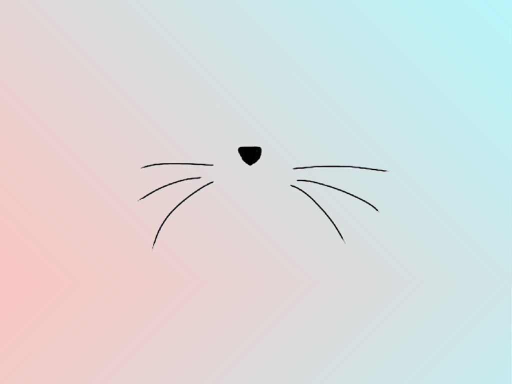 Adorable Simplistic Kitty Face Macbook WallpaperMac