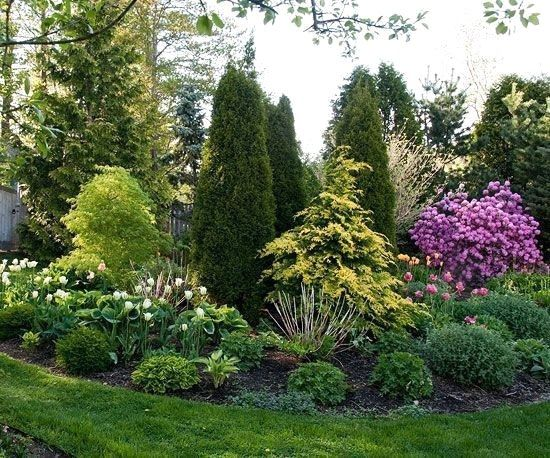 55 Beautiful Backyard Landscaping Along Fence Decoration Ideas