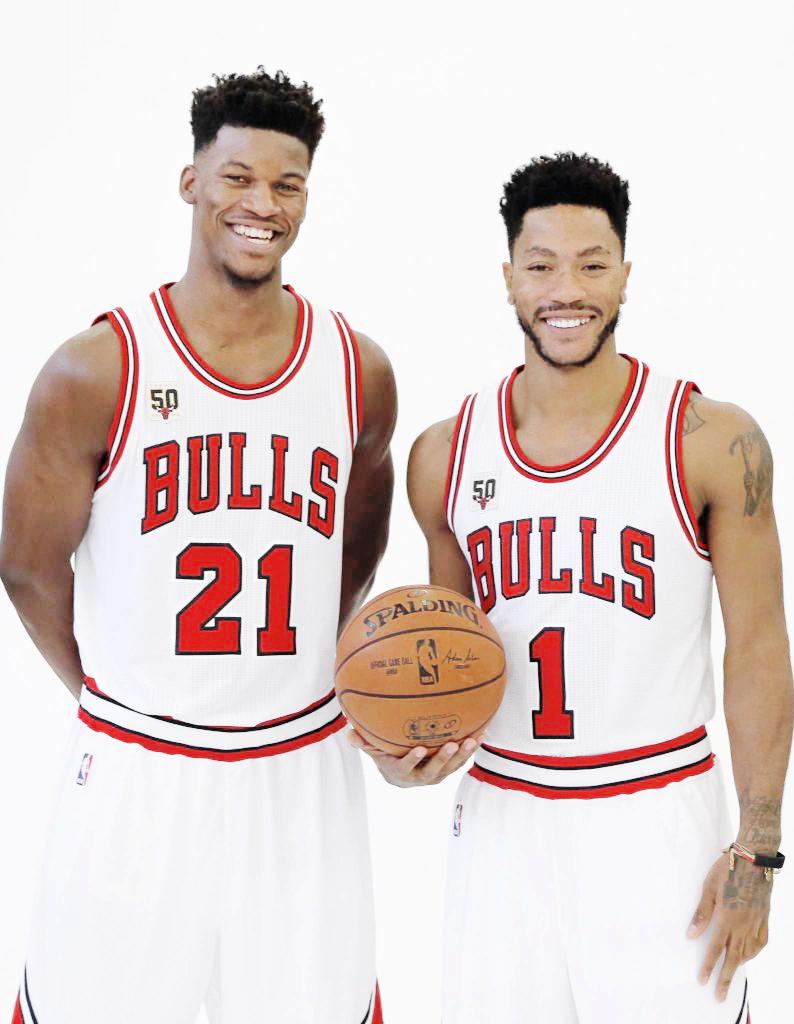 299e2d75b433bc ... Jimmy Butler Derrick Rose-- Chicago Bulls.