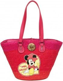251693cbec Borsa in Paglia Disney Minnie | Leisure Time | Bags, Disney purse e ...
