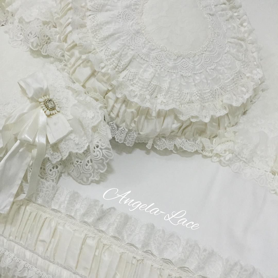 Our new Bed Runner. available Off white details with matching cushions. #bedrunner #bedroom #cushion #pillows #maternity #lace #angelalace