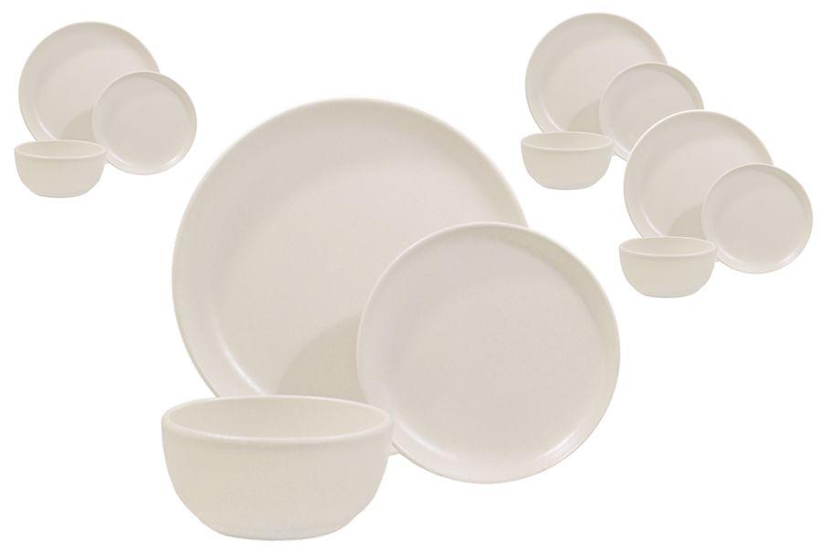 Matte White 12 Piece Dinnerware Set 4 Place Settings